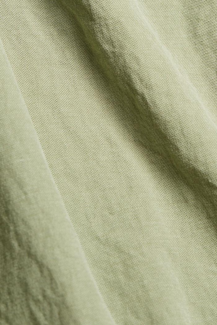 Žerzejový top s rýšky, LENZING™ ECOVERO™, LIGHT KHAKI, detail image number 4
