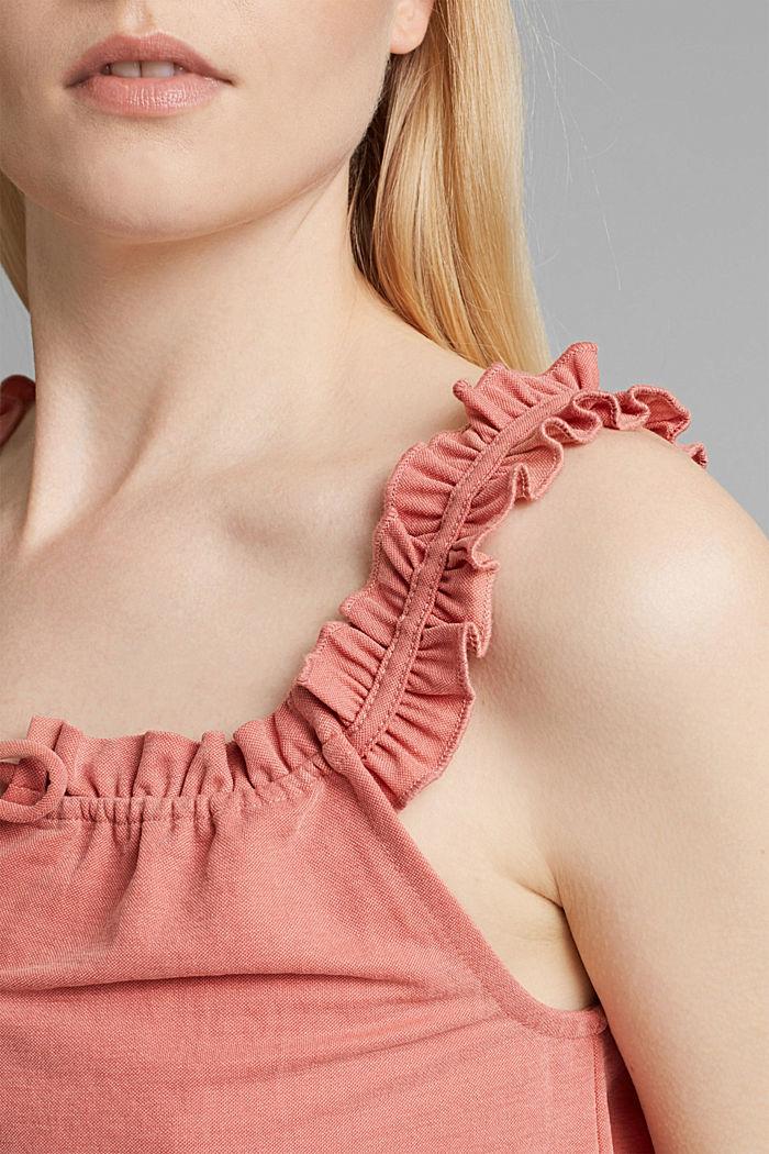 Jersey-Top mit Rüschen, LENZING™ ECOVERO™, BLUSH, detail image number 2