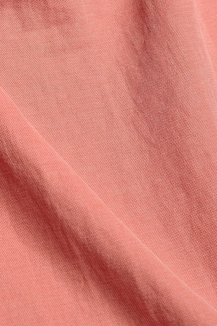 Jersey-Top mit Rüschen, LENZING™ ECOVERO™, BLUSH, detail image number 4