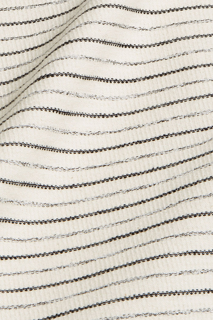 Striped top with a round back neckline, OFF WHITE, detail image number 4