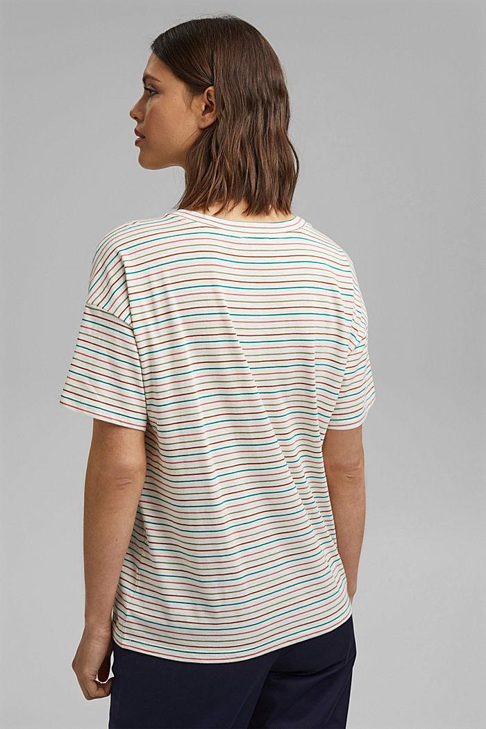 Streifen-Shirt aus Bio-Baumwolle/TENCEL™, OFF WHITE, detail image number 3