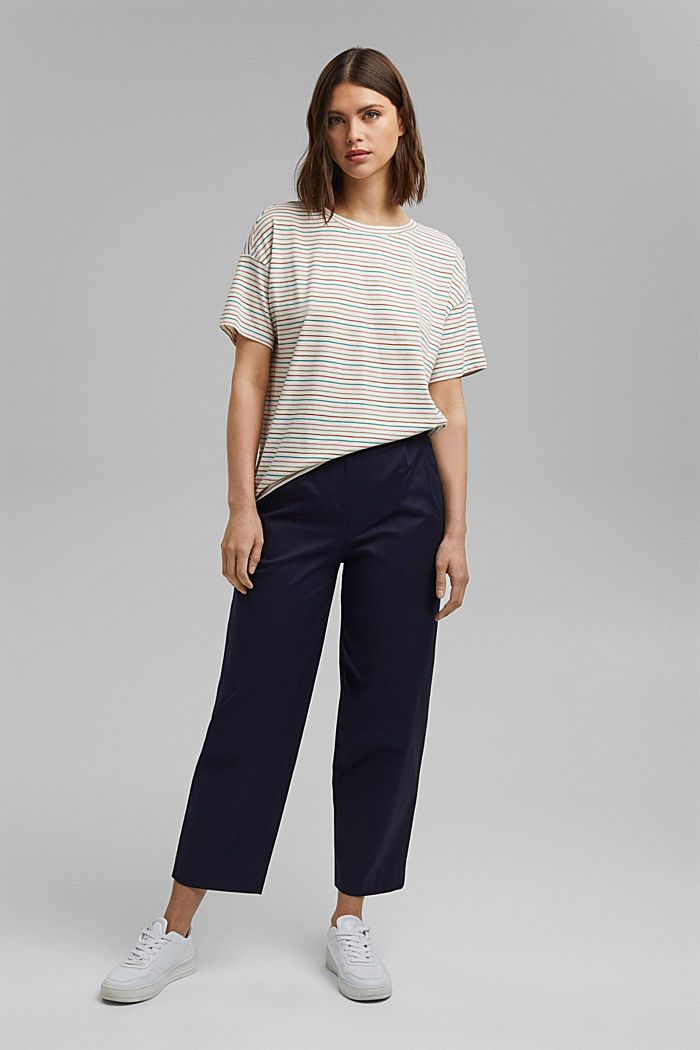 Streifen-Shirt aus Bio-Baumwolle/TENCEL™, OFF WHITE, detail image number 1