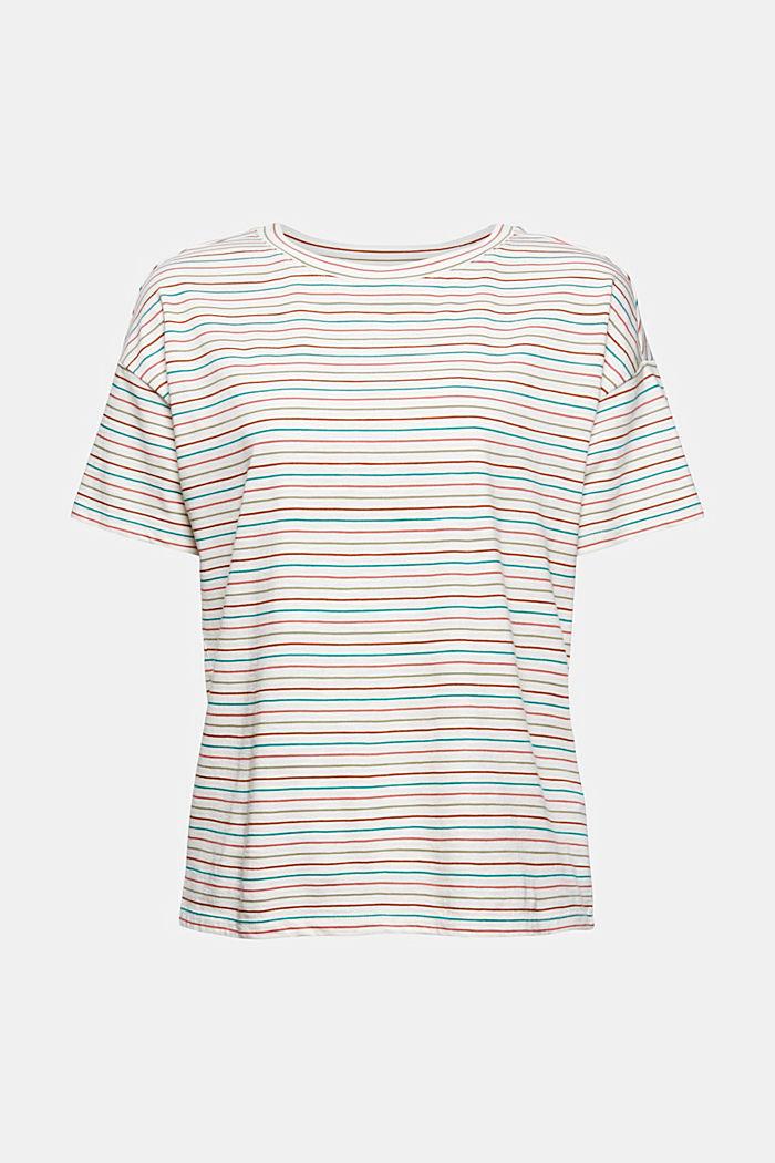 Streifen-Shirt aus Bio-Baumwolle/TENCEL™, OFF WHITE, detail image number 5