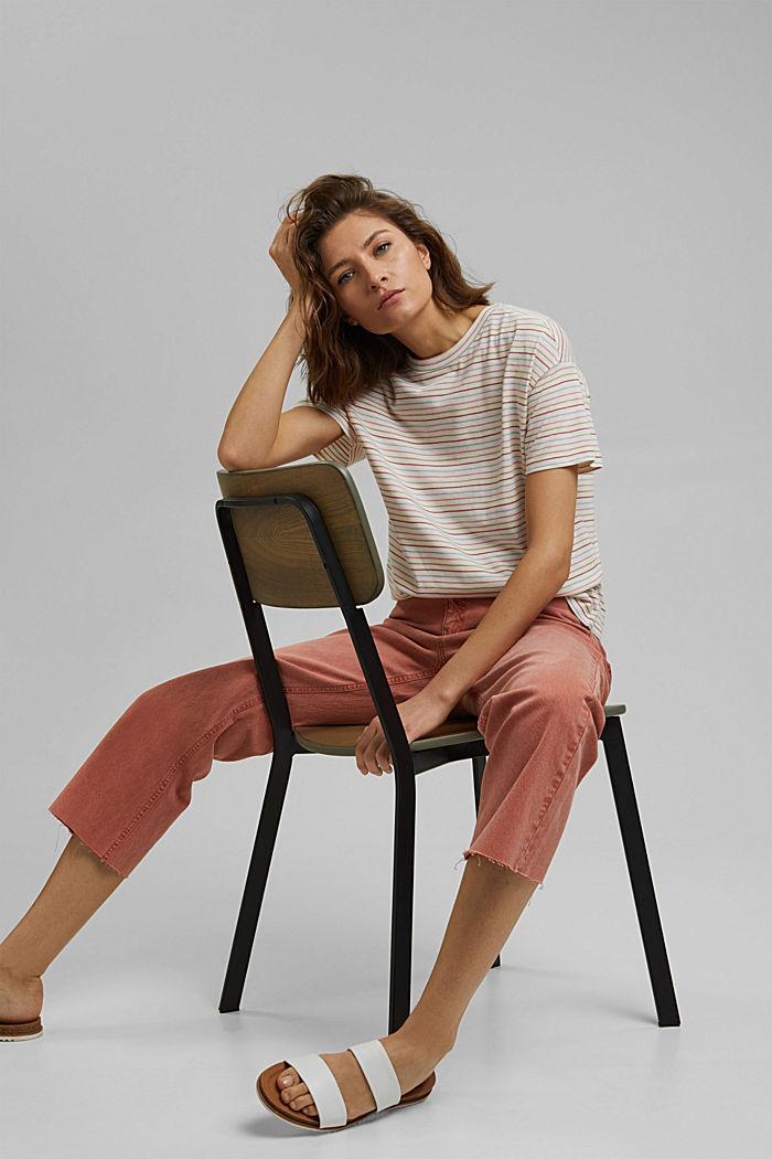 Streifen-Shirt aus Bio-Baumwolle/TENCEL™, NEW OFF WHITE, detail image number 4