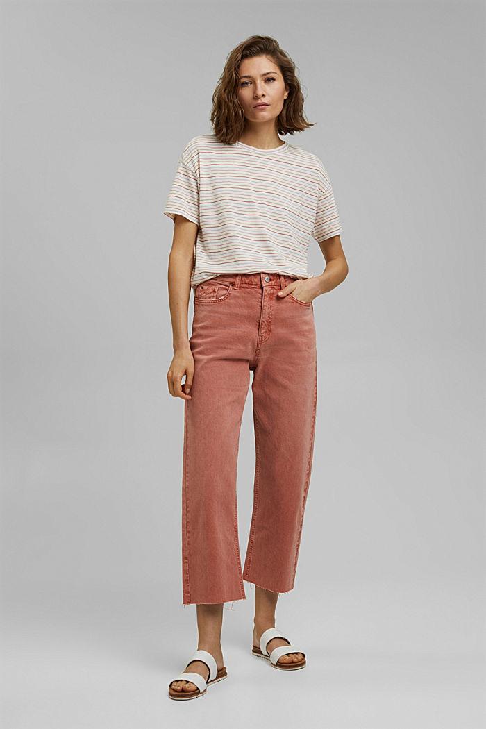 Streifen-Shirt aus Bio-Baumwolle/TENCEL™, NEW OFF WHITE, detail image number 1