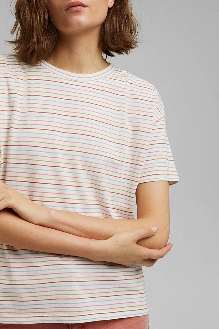 Streifen-Shirt aus Bio-Baumwolle/TENCEL™, NEW OFF WHITE, detail image number 2