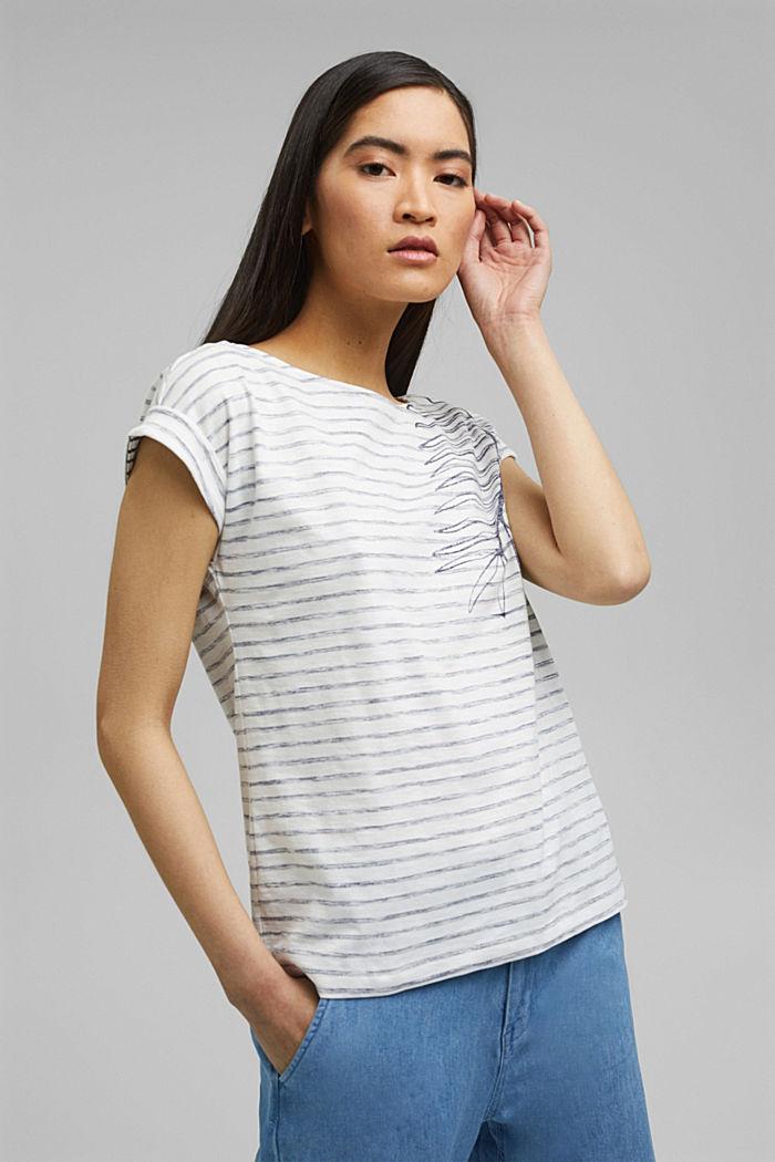 Painettu t-paita, 100 % luomupuuvillaa, OFF WHITE, detail image number 0