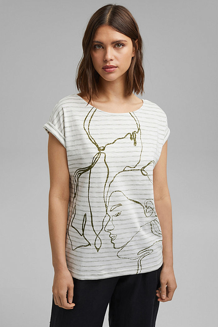 Printed T-shirt, 100% organic cotton, NEW OFF WHITE, detail image number 0