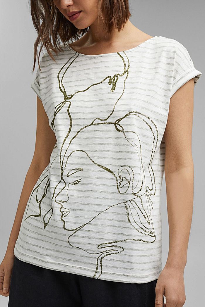 Printed T-shirt, 100% organic cotton, NEW OFF WHITE, detail image number 2