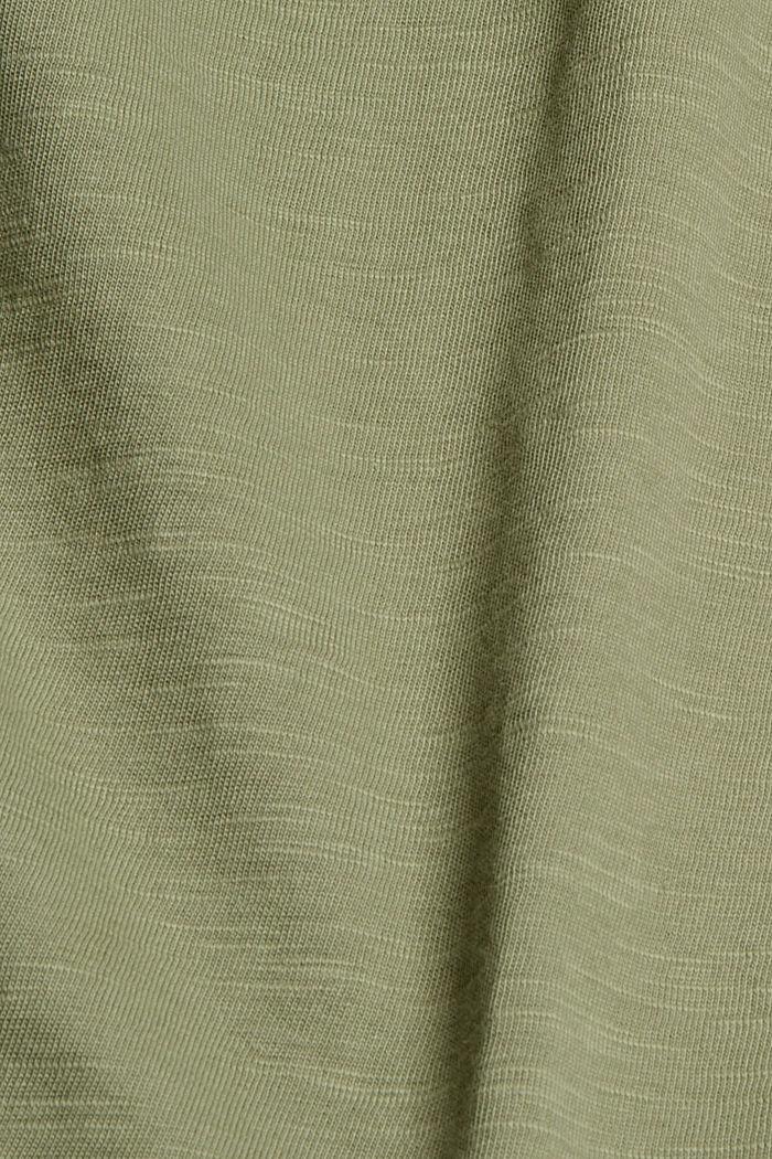Printed T-shirt, 100% organic cotton, LIGHT KHAKI, detail image number 4