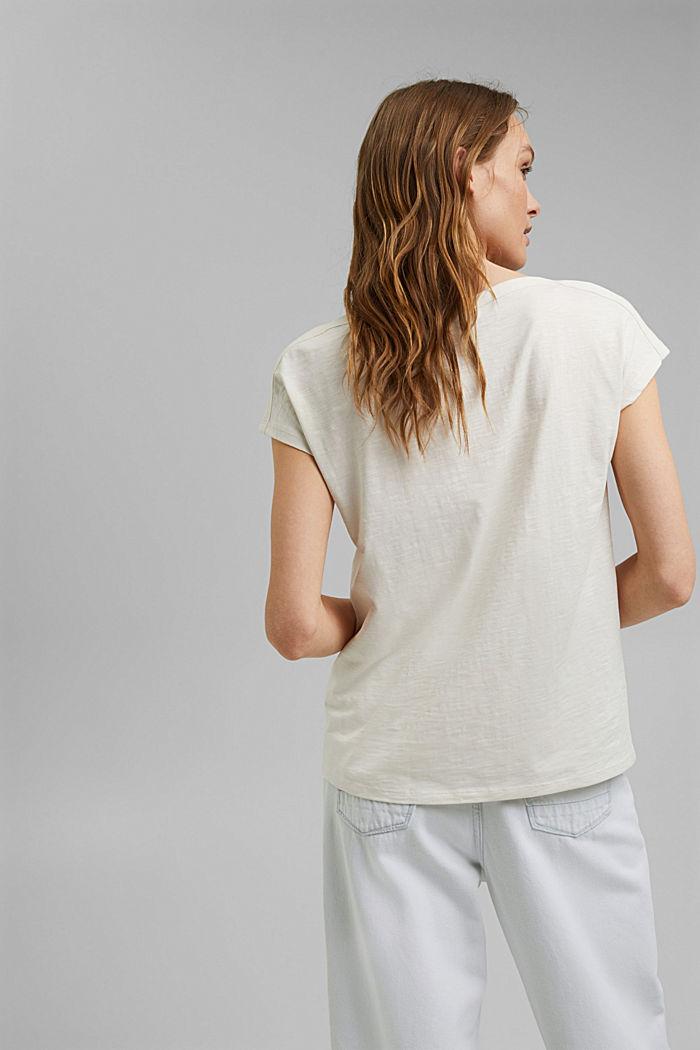 T-Shirt mit Print aus Organic Cotton, OFF WHITE, detail image number 3
