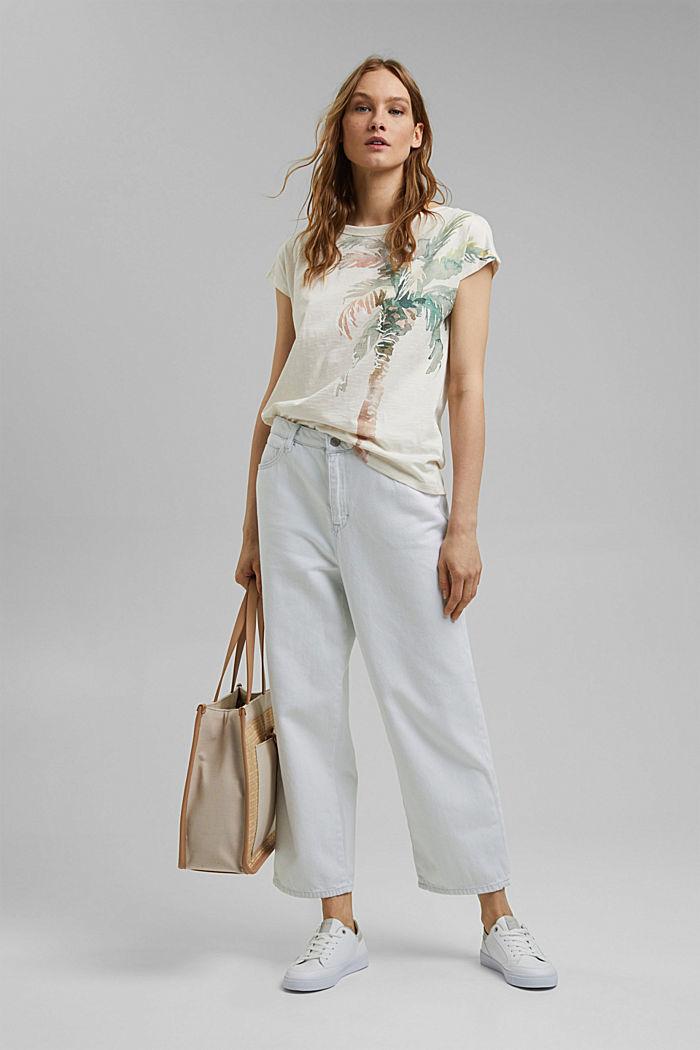T-Shirt mit Print aus Organic Cotton, OFF WHITE, detail image number 1