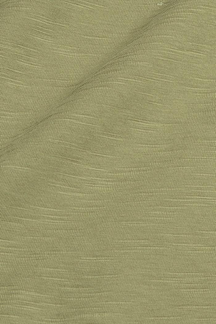 Painettu T-paita luomupuuvillaa, LIGHT KHAKI, detail image number 4