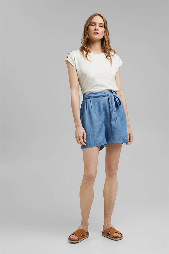 Tričko s knoflíkovými légami, bio bavlna, OFF WHITE, detail image number 1
