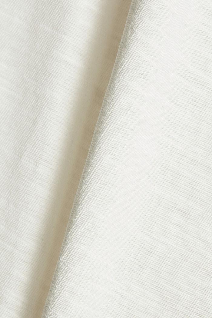 Tričko s knoflíkovými légami, bio bavlna, OFF WHITE, detail image number 4