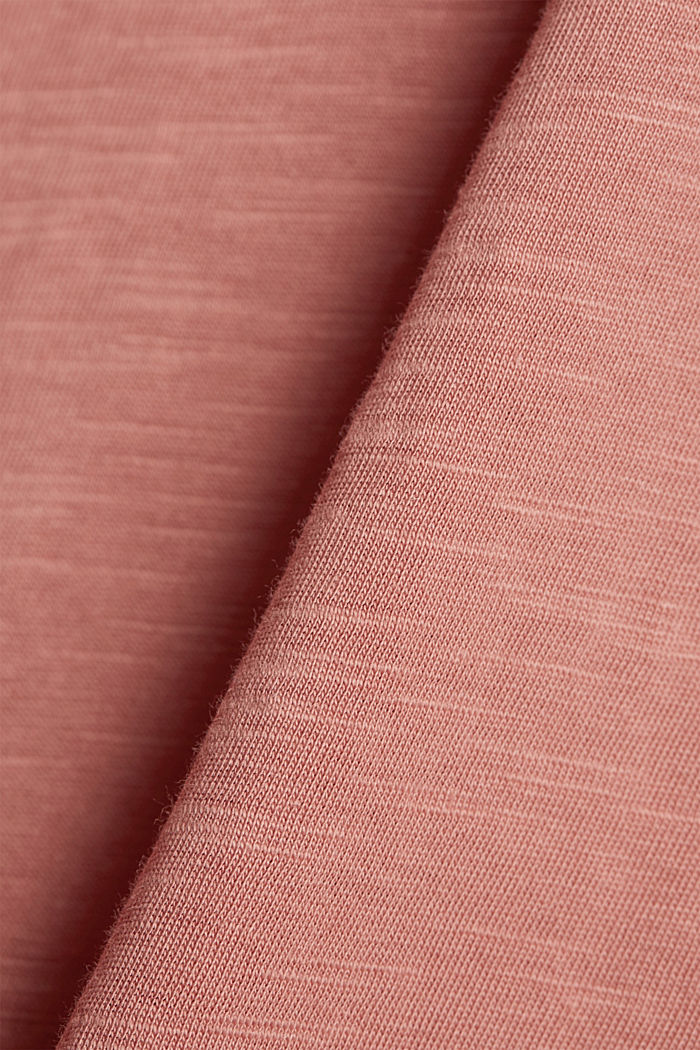 T-shirt with button plackets, organic cotton, BLUSH, detail image number 4