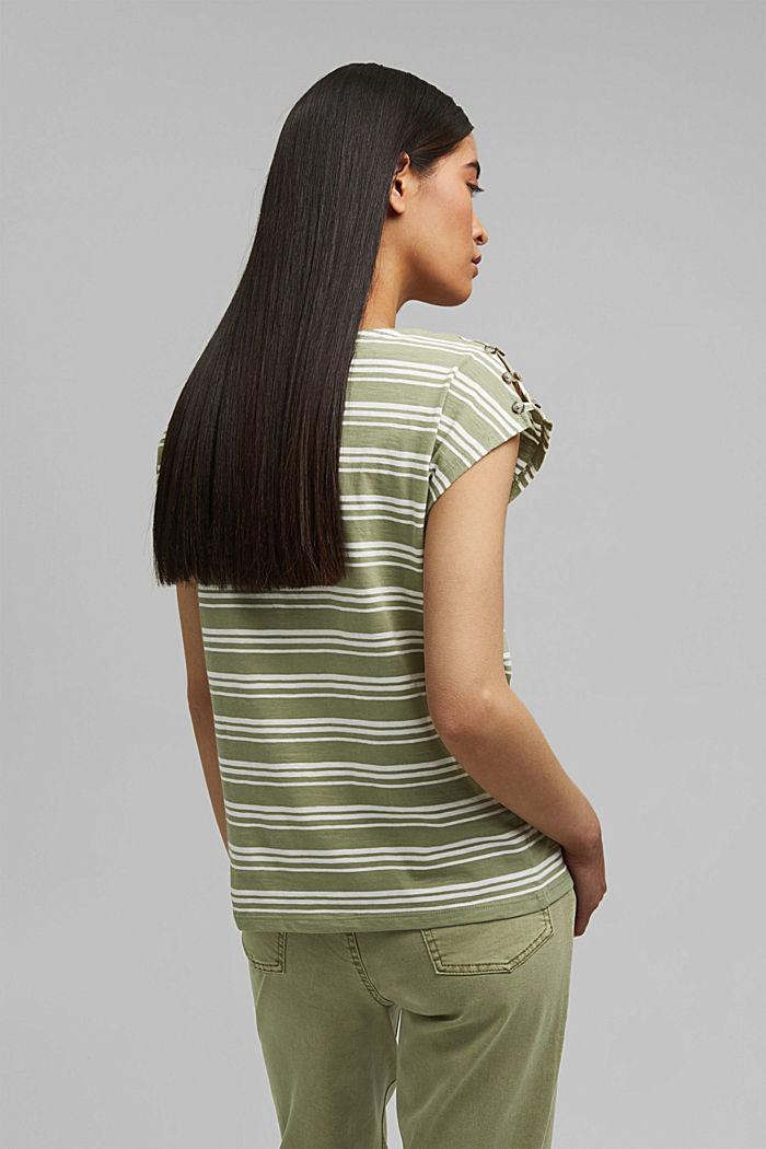Tričko s knoflíkovými légami, bio bavlna, LIGHT KHAKI, detail image number 3