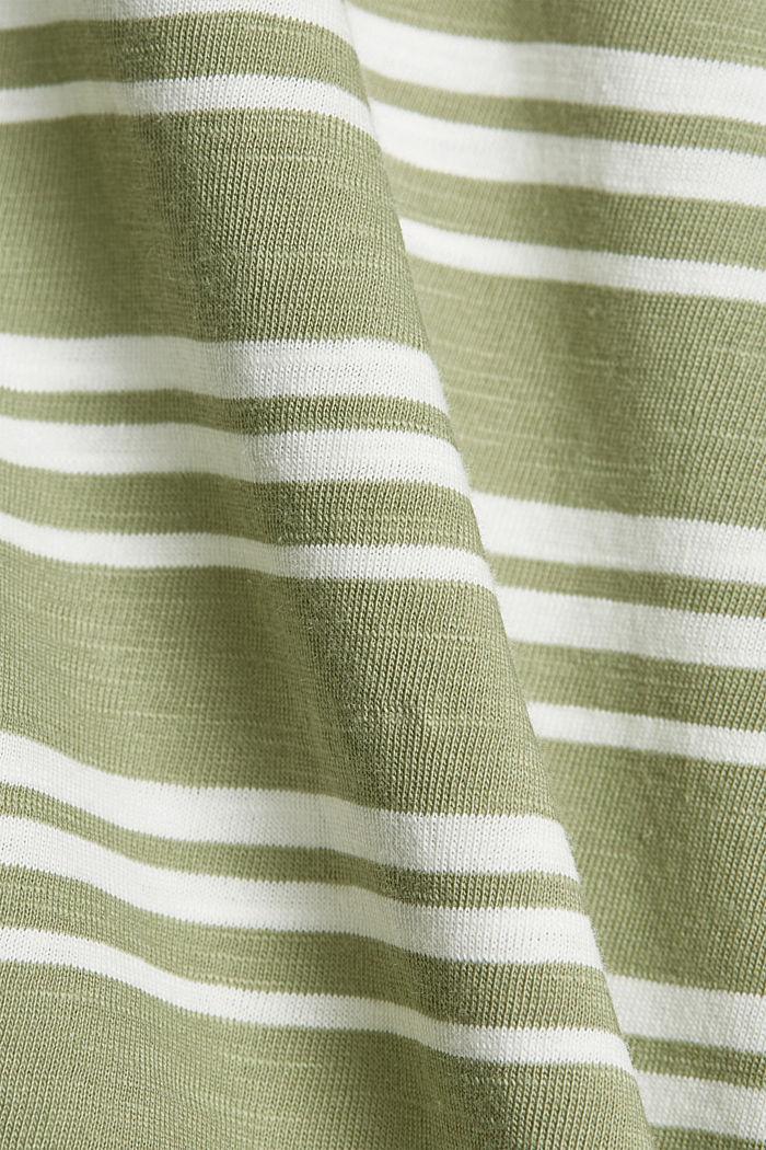 Tričko s knoflíkovými légami, bio bavlna, LIGHT KHAKI, detail image number 4