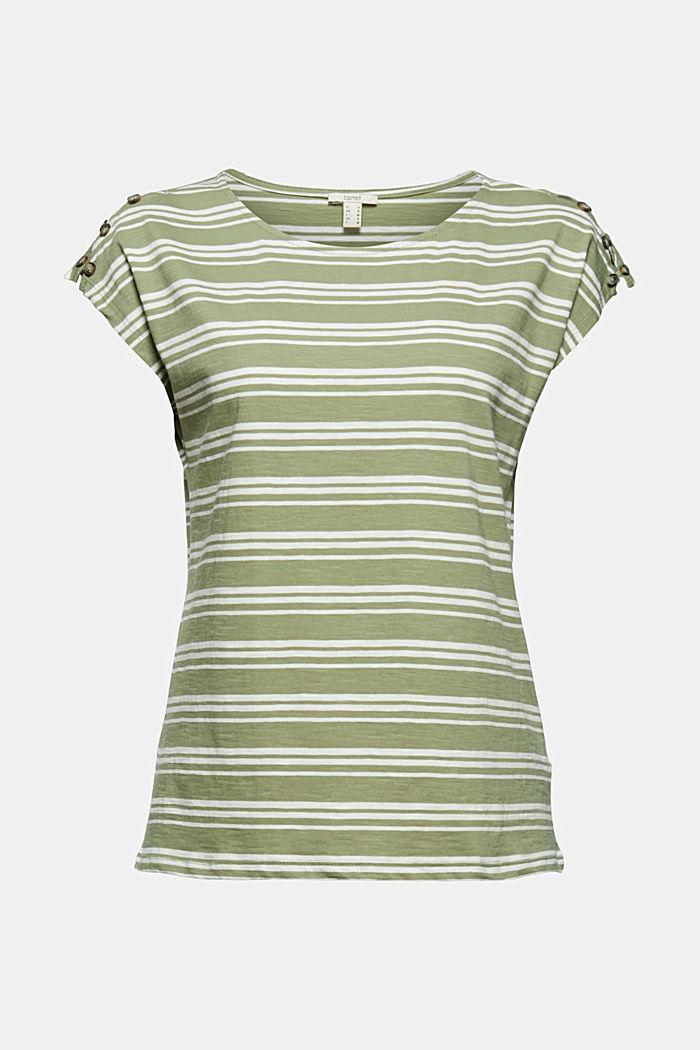 Tričko s knoflíkovými légami, bio bavlna, LIGHT KHAKI, detail image number 5
