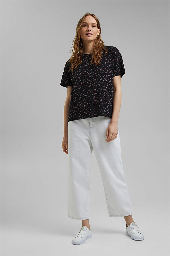 T-Shirt mit Print aus 100% Organic Cotton, BLACK, detail image number 1