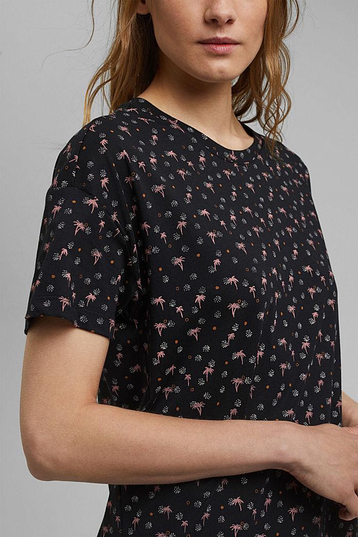 T-Shirt mit Print aus 100% Organic Cotton, BLACK, detail image number 2