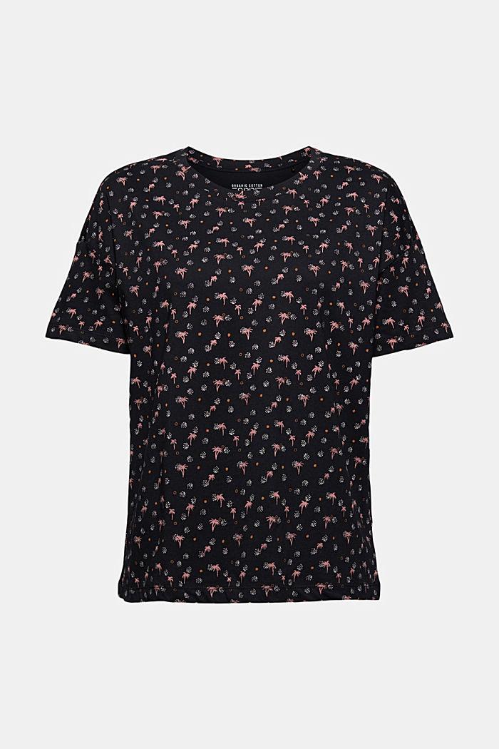 T-Shirt mit Print aus 100% Organic Cotton, BLACK, detail image number 6