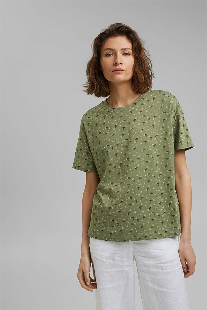 Printed T-shirt made of 100% organic cotton, LIGHT KHAKI, detail image number 0