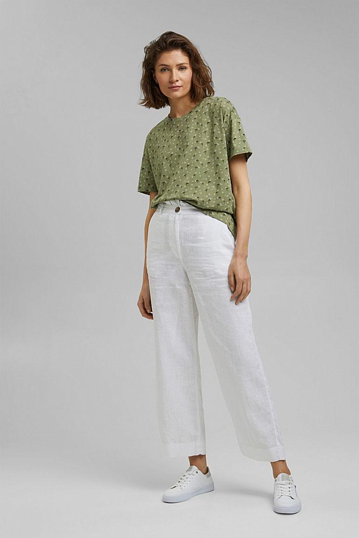 Printed T-shirt made of 100% organic cotton, LIGHT KHAKI, detail image number 1
