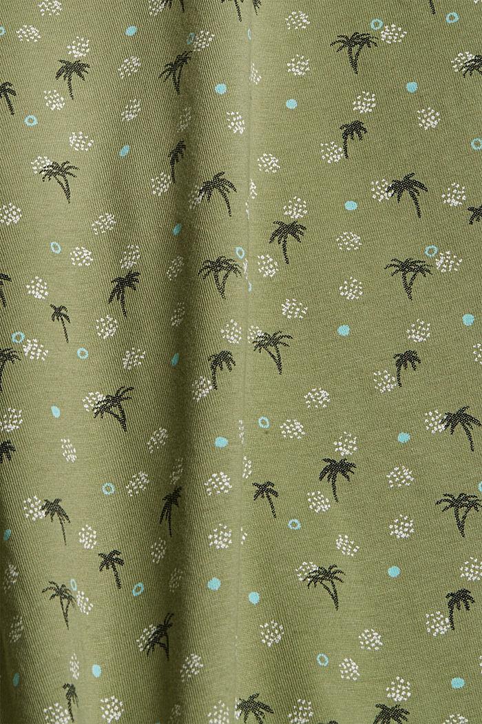 Printed T-shirt made of 100% organic cotton, LIGHT KHAKI, detail image number 4