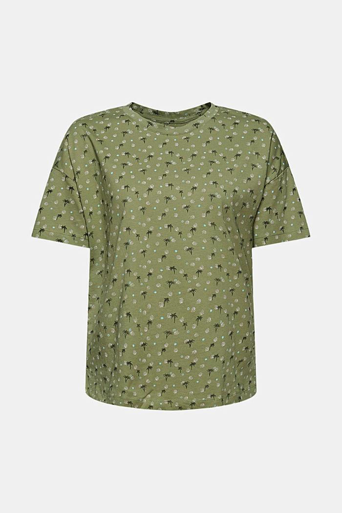 Printed T-shirt made of 100% organic cotton, LIGHT KHAKI, detail image number 6