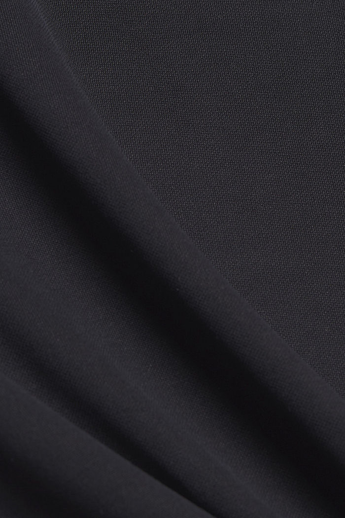 Tričko s dírkovanou výšivkou a rýšky, BLACK, detail image number 4