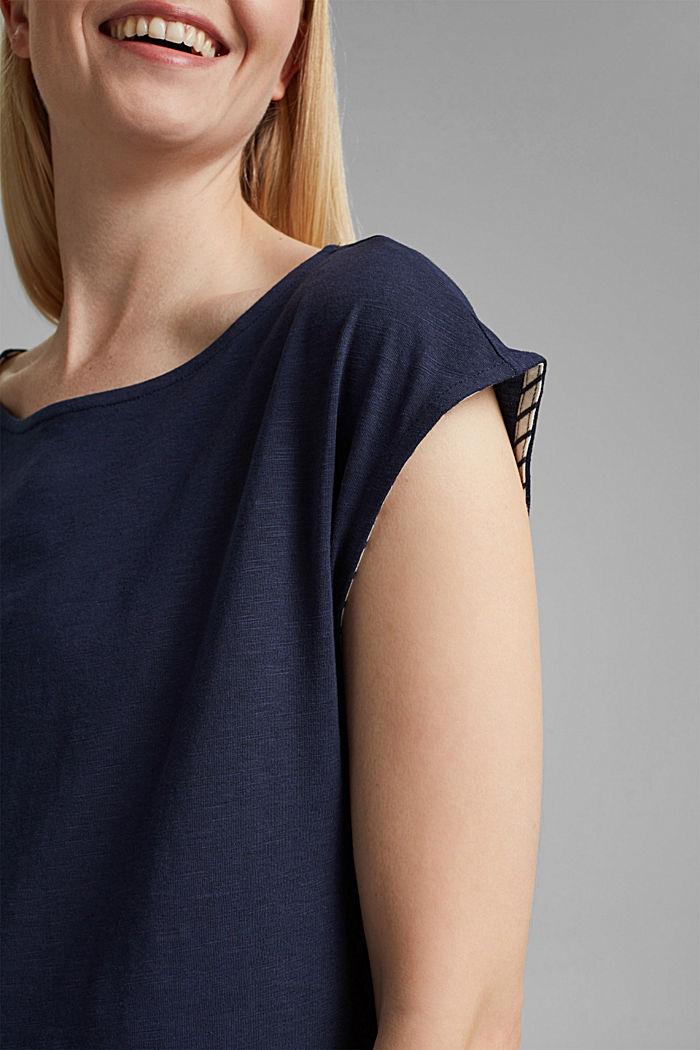 Tričko ve vrstveném vzhledu, směs bio bavlny, NAVY, detail image number 2