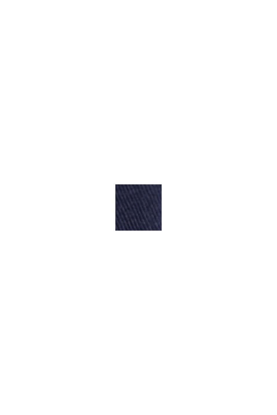Camiseta con diseño de capas, mezcla de algodón ecológico, NAVY, swatch