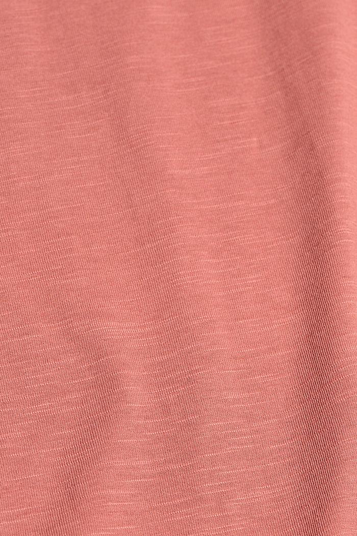 Kerrostettu T-paita luomupuuvillasekoitetta, BLUSH, detail image number 4