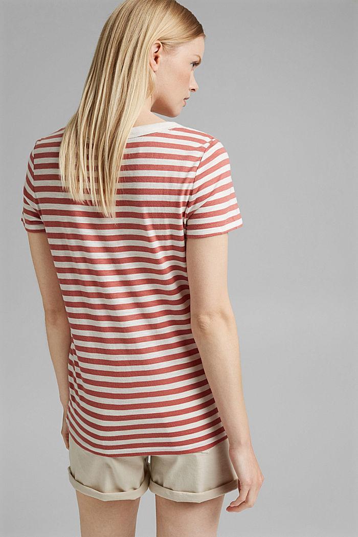 T-Shirt mit Streifen, Organic Cotton Mix, BLUSH, detail image number 3