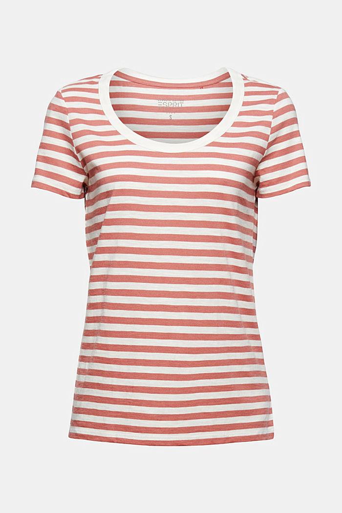 T-Shirt mit Streifen, Organic Cotton Mix, BLUSH, detail image number 5