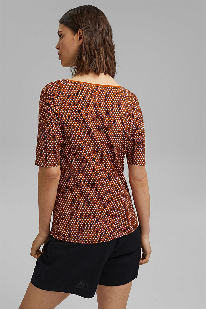 Tričko s grafickým potiskem, bio bavlna, RUST BROWN, detail image number 3