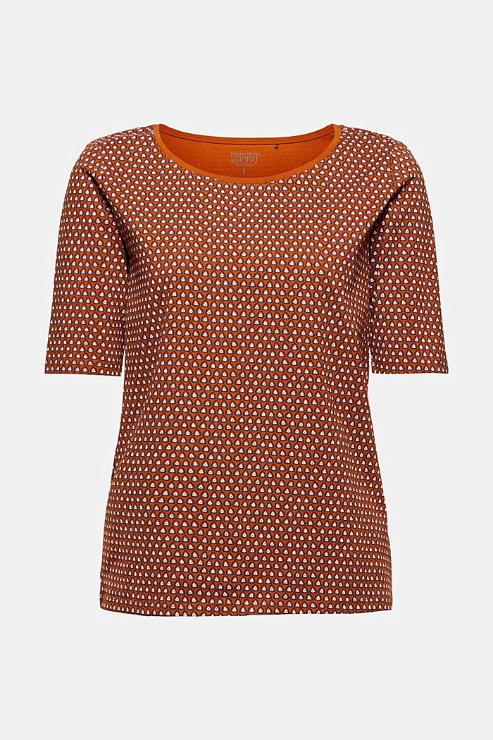 Tričko s grafickým potiskem, bio bavlna, RUST BROWN, detail image number 5