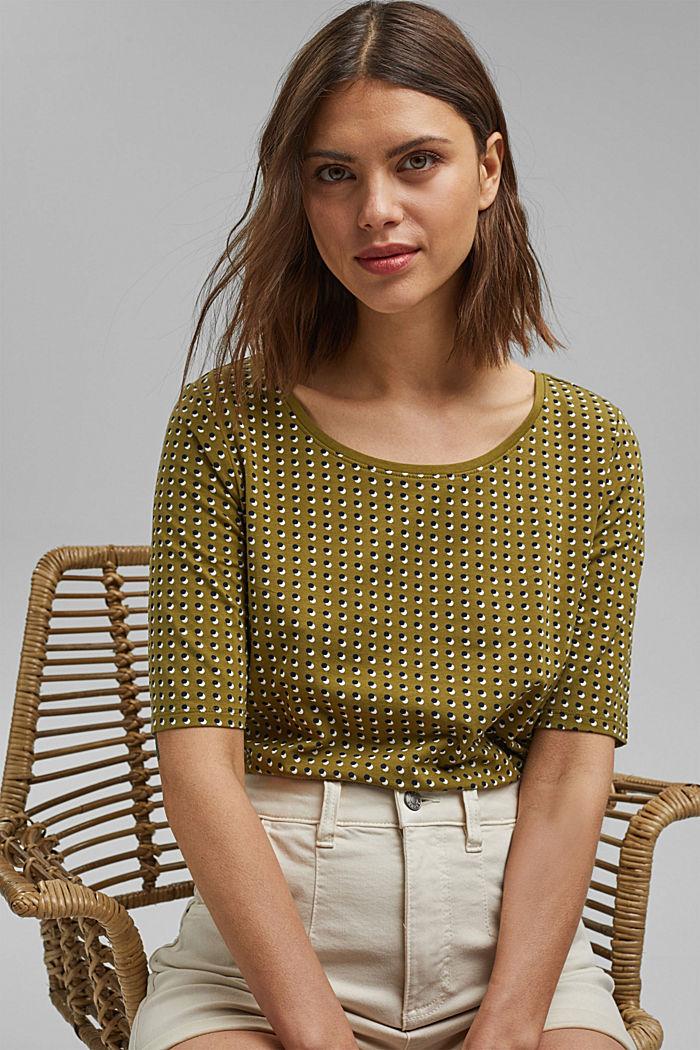 Tričko s grafickým potiskem, bio bavlna, OLIVE, detail image number 0