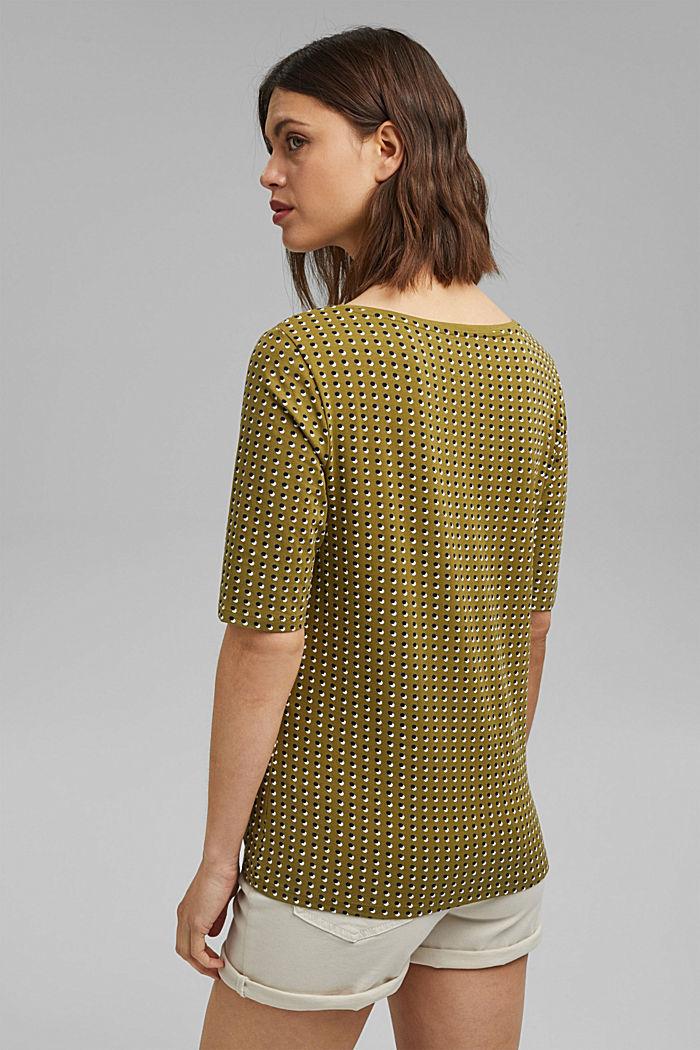 Tričko s grafickým potiskem, bio bavlna, OLIVE, detail image number 3