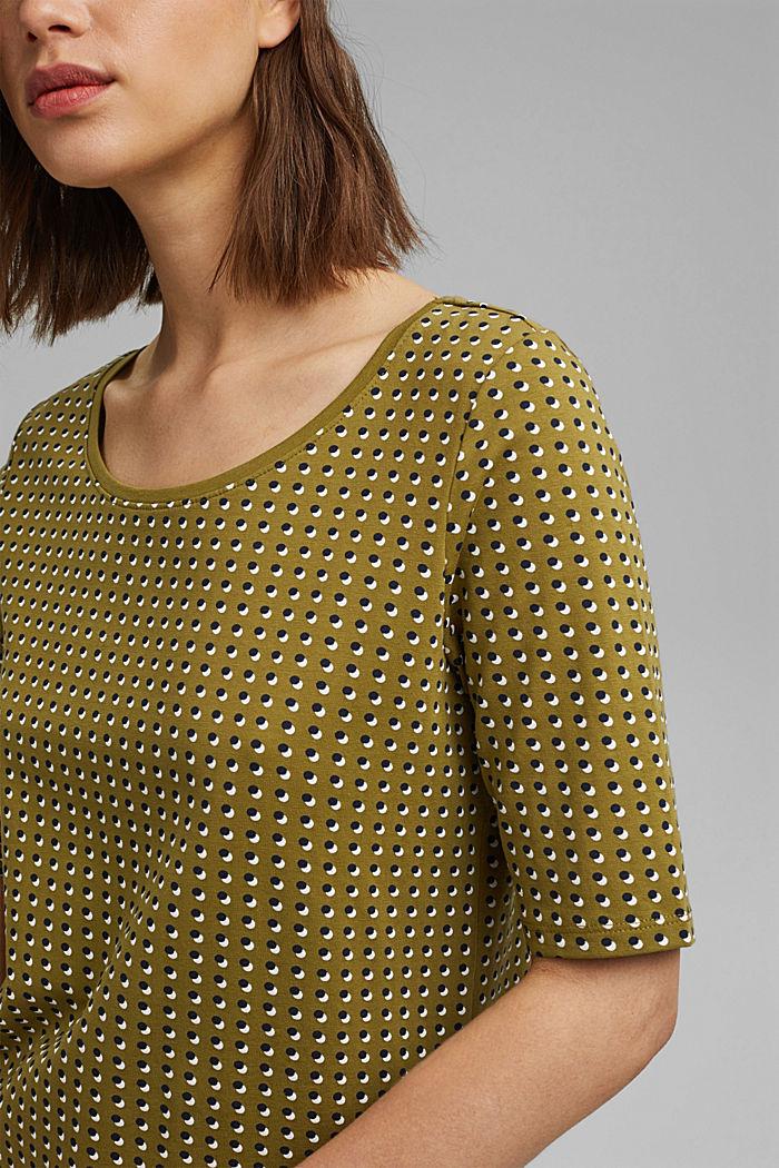 Tričko s grafickým potiskem, bio bavlna, OLIVE, detail image number 2