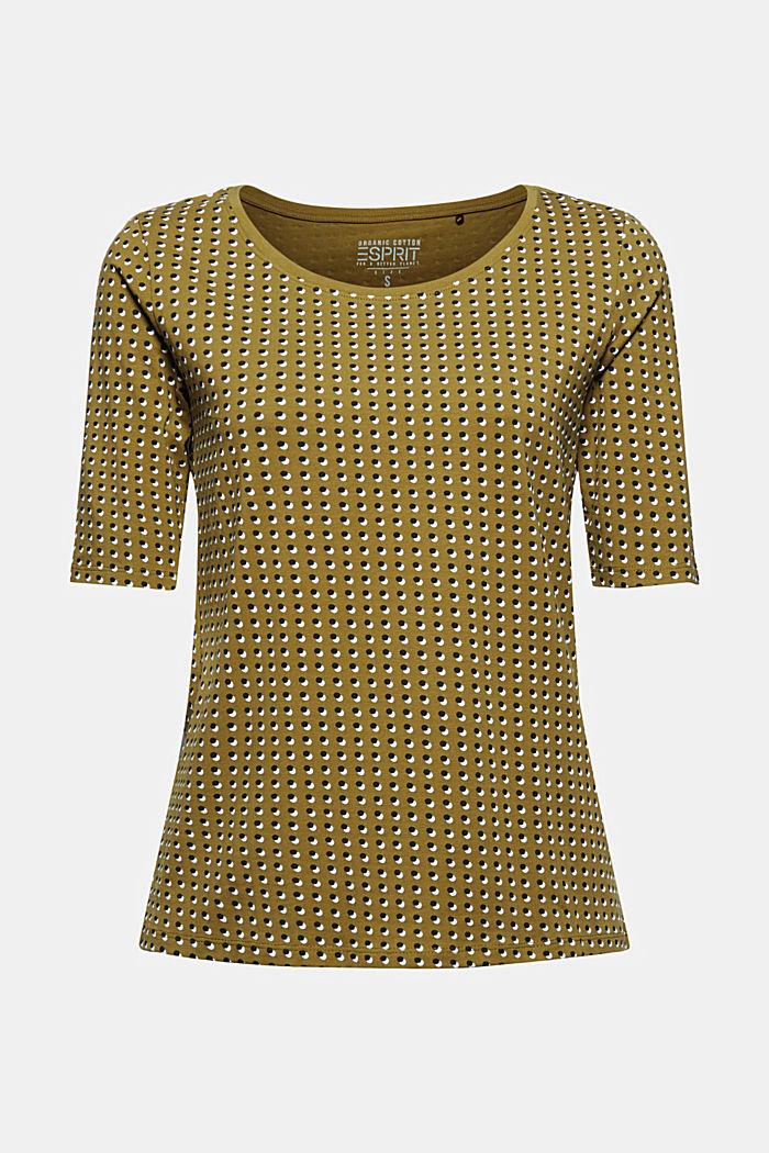 Tričko s grafickým potiskem, bio bavlna, OLIVE, detail image number 5