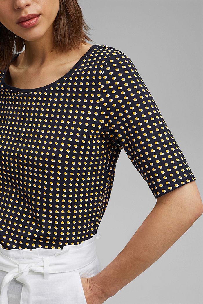 T-shirt à imprimé graphique, coton biologique, NAVY, detail image number 2