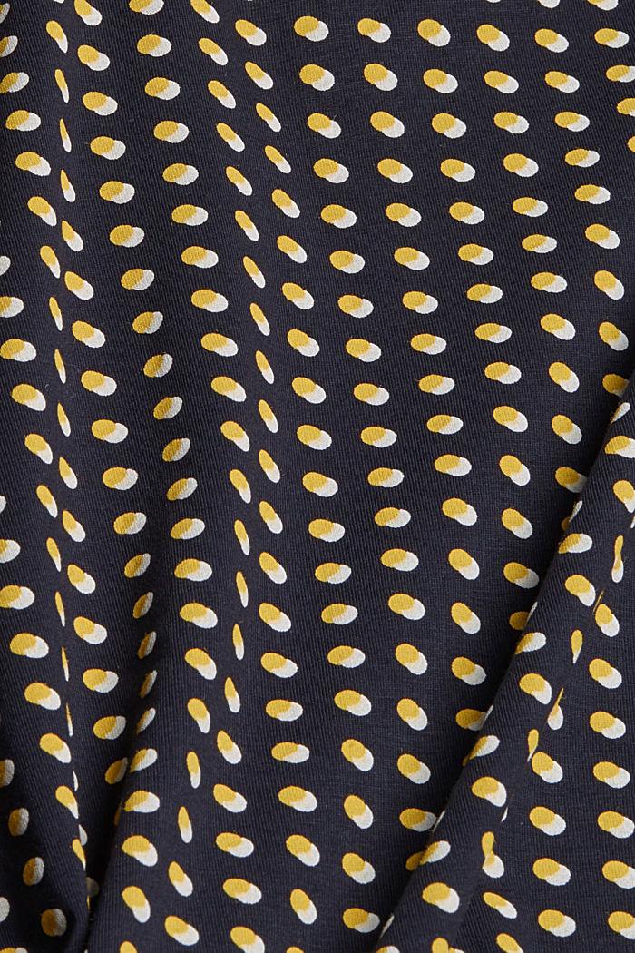 T-shirt à imprimé graphique, coton biologique, NAVY, detail image number 4