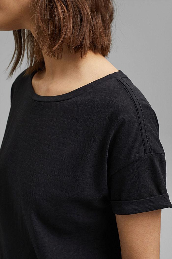 T-shirt made of 100% organic cotton, BLACK, detail image number 2