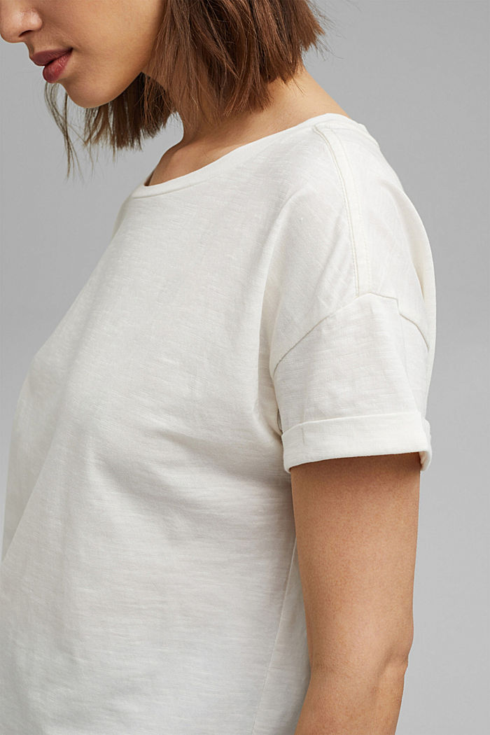T-shirt made of 100% organic cotton, OFF WHITE, detail image number 2