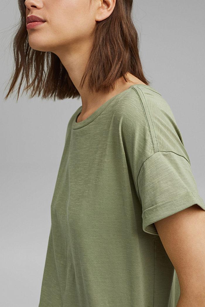 Tričko ze 100% bio bavlny, LIGHT KHAKI, detail image number 2