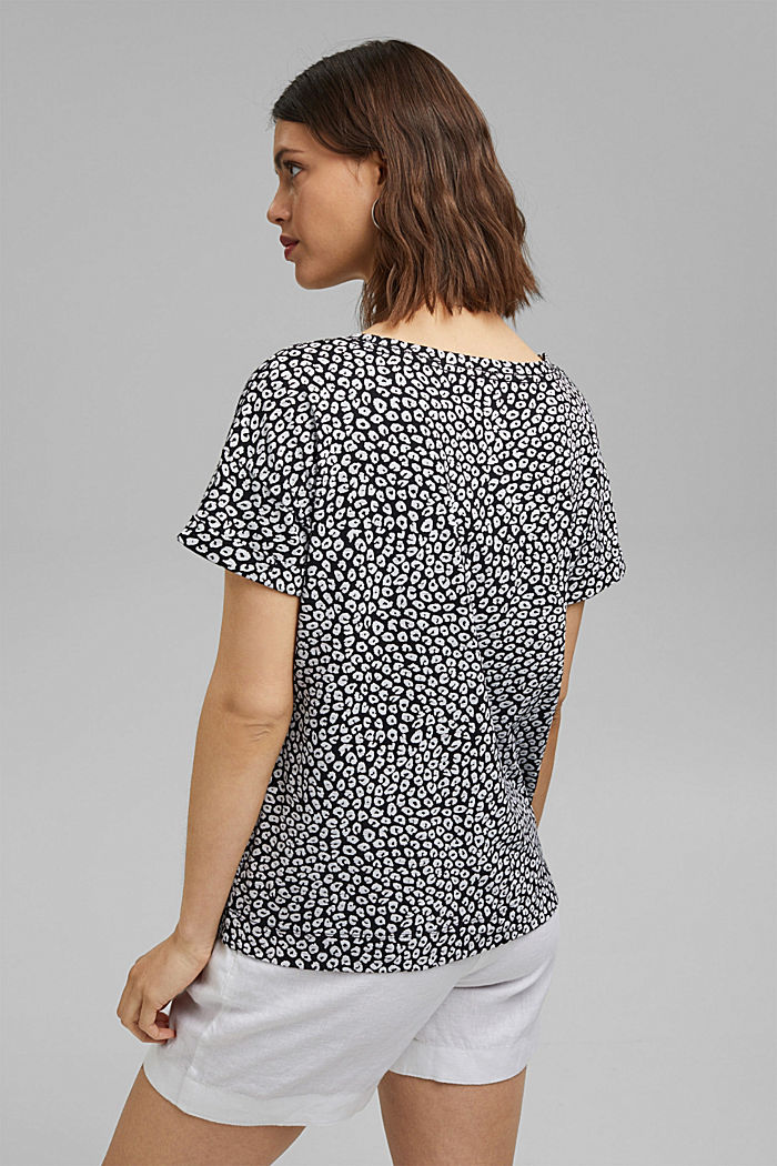 T-shirt with print, 100% organic cotton, BLACK, detail image number 3