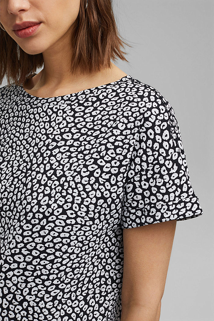 T-shirt with print, 100% organic cotton, BLACK, detail image number 2