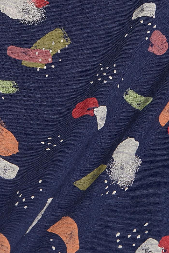 T-Shirt mit Print ,100% Bio-Baumwolle, NAVY, detail image number 4